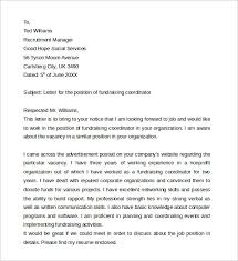 best ideas of sample cover letter for fundraising job for your