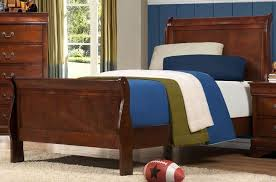 twin sleigh bed black wall mirror wooden bed frame white framed