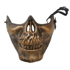 halloween skeleton mask skeleton mask half face cs actual combat warrior face masks