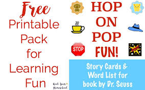 free learning fun printable pack for fox in socks rock your