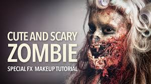 Scary Zombie Halloween Makeup by Cute And Scary Zombie Special Fx Makeup Tutorial Youtube