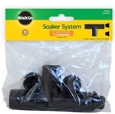 t hose connector with plugs for element and miracle gro soaker systems