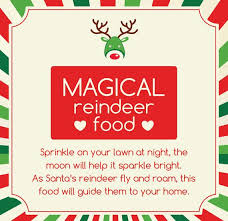 magical reindeer food printable with poem bespoke prints