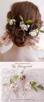 flower accessories wedding hair fresh ivory wedding hair accessories for a