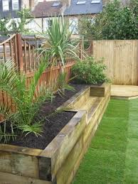 Raised Planter Beds built in planter ideas railway sleepers raised bed and raising