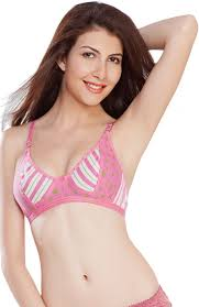 nagina women u0027s full coverage pink white bra buy pink white