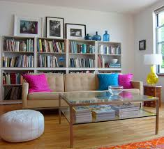 Storage Behind Sofa Layering