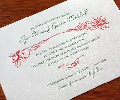 wedding invitations letter new invitation designs for winter weddings letterpress wedding