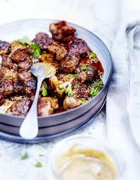 porc cuisine bouchées porc miel et tahiné pour 6 personnes recettes à table