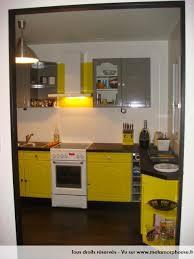 cuisine jaune citron photos décoration de cuisine traditionnelle dédiée moderne design