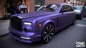 mansory rolls royce dawn purple mansory rolls royce phantom in london youtube