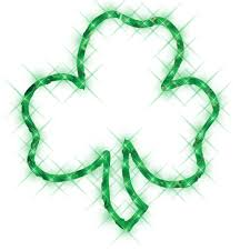 shamrock lighted window decoration american sale