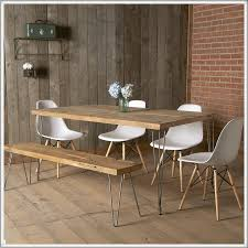 reclaimed wood wall table dining room modern reclaimed wood dining table with wood bench and