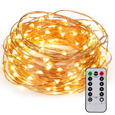 kohree 60leds string lights with remote aa