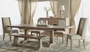 weathered grey dining table 798