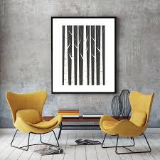 birch print birch art minimalist home decor scandinavian art