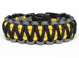 cobra survival bracelet images Paracord bracelet king cobra grey black with yellow core etsy jpg