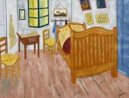 peinture ecriture chambre de vincent gogh josiane bisson
