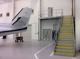 Stairs With Landing by Galvanised Steel Staircase And Landing At Airport Hangar Morris