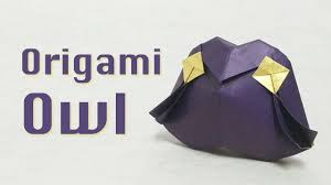 halloween origami tutorial owl