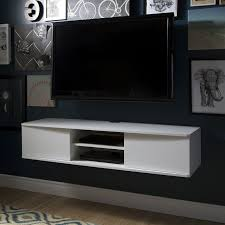 wall mounted tv console modern family room design with wall mount