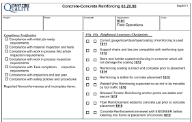Construction Sheets Template Quality Check Sheet Template