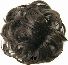 bun scrunchie feshfen hair extensions wavy curly hair bun extensions donut