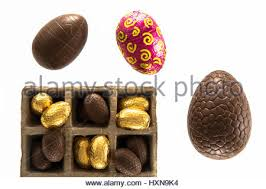 Decorating Easter Chocolate Eggs by Traditional Decorated Milk Chocolate Easter Egg Showing Chocolates
