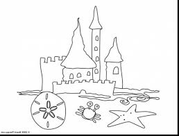 Magnificent Simple Sand Castle Coloring Pages With Castle Coloring Sandcastle Coloring Page