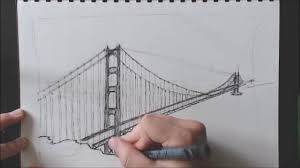 drawing the u0027golden gate bridge u0027 timelapse youtube