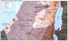 West Bank Map Maps Of Gaza Strip Detailed Map Of Gaza Strip In English Road