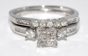 cheap wedding rings sets cheap discount wedding ring review princess cut cubic zirconia cz