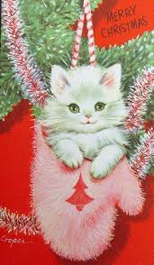 728 best vintage christmas cats images on pinterest vintage