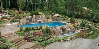 Waterfall Design Ideas Swimming Pool Designs With Waterfalls Magnificent Breathtaking