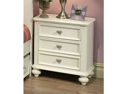 athena 3 drawer nightstand in white 30009
