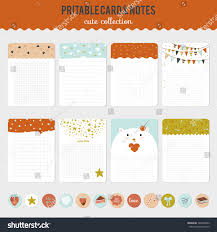 collection romantic love cards notes stickers stock vector