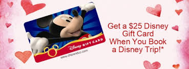 gift card book get a 25 disney gift card when you book a disney trip with us
