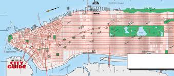 Usa Map New York City by Detailed Road Map Of Manhattan New York New York State Usa