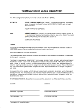 landlord notice of termination of lease template u0026 sample form