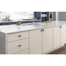 white kitchen cabinet knobs home depot liberty simply refined 3 in 76 mm matte black elongated t
