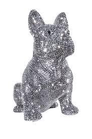 graphite rhinestone french bulldog bank by interior illusions on