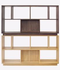 modular bookcase contemporary oak walnut karli ziinlife