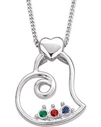 necklace birthstones shopping sales on sterling silver s heart birthstone