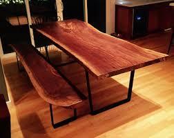 Walnut Live Edge Table by Walnut Table Etsy