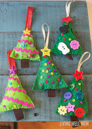 felt tree ornaments