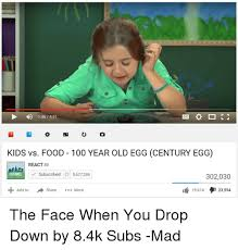 Mad Kid Meme - 146 451 kids vs food 100 year old egg century egg react 2 subscribed