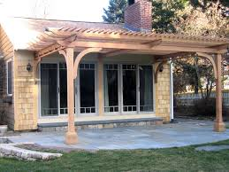 Concrete Pergola Designs by Patio Attached To The House Flagstone Patio Design Ideas Attached