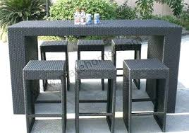 patio bar stools and table awesome outdoor patio bar furniture