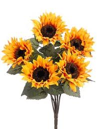 Artificial Sunflowers Beautiful Silk Sunflower Stem In Yellow Add A Rustic Touch To