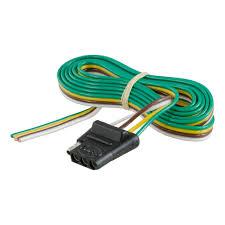 curt manufacturing curt 4 way flat connector socket 58041